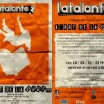 Flyer L'ART DE LA CHUTE Recto & Verso